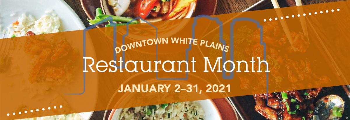 Downtown White Plains Restaurant Month logo